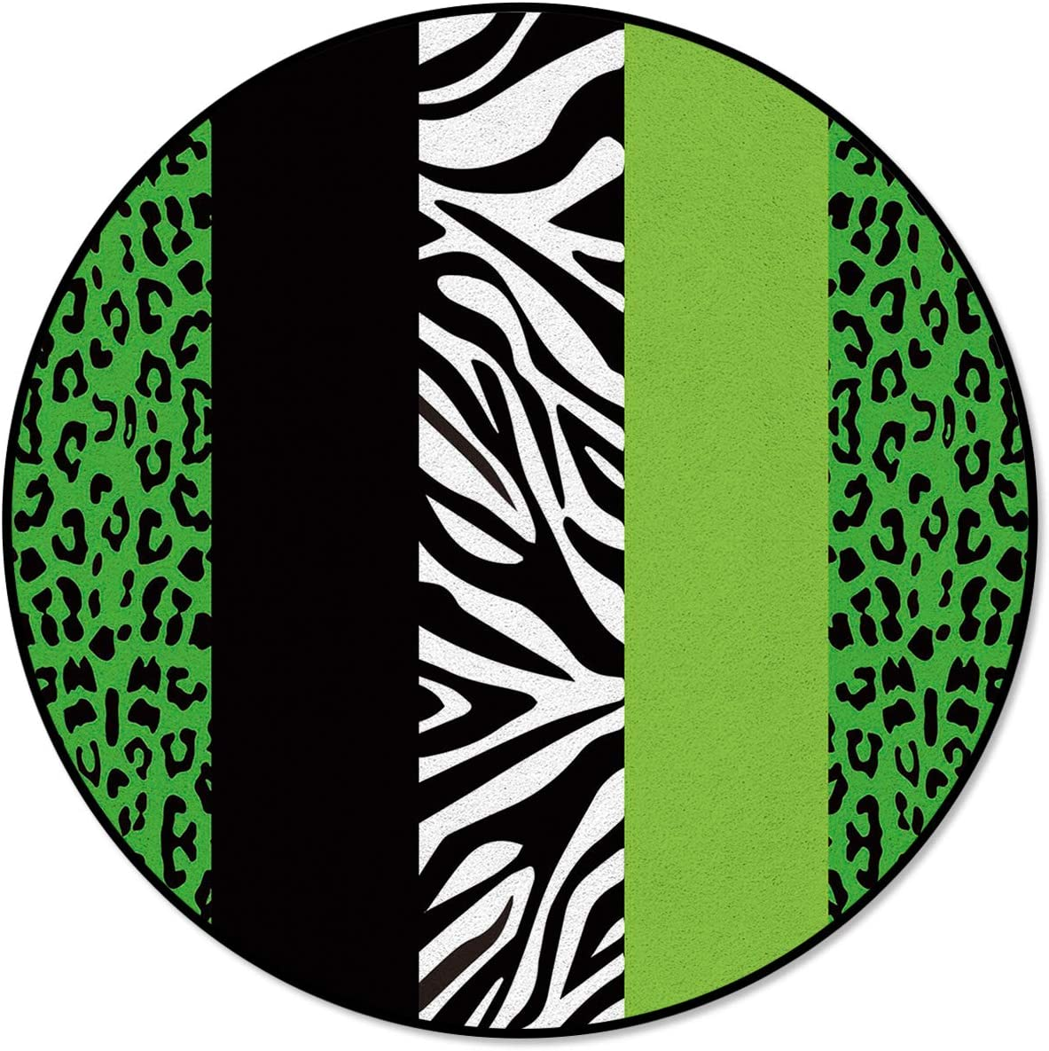 OneHoney Round Area Rugs Leopard Finally popular brand Zebra Indoor Pattern Max 73% OFF E