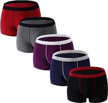 5-Pack Aserlin Men's Underwear Cotton Boxer Briefs