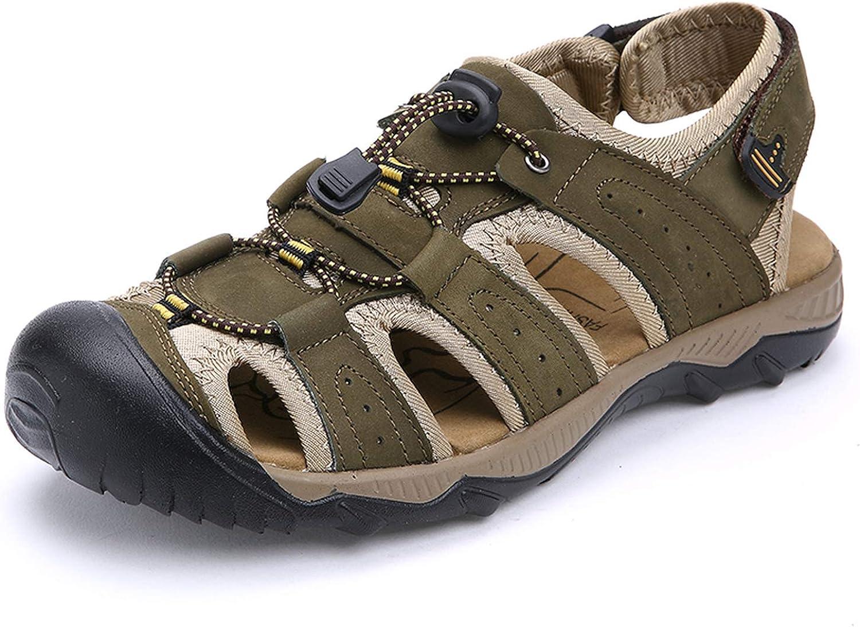 Färgfulla Dream - sommar sommar sommar Man Sandaler Romerska style Genuine läder Man skor Andable Slipper skor män Stor storlek 38 -47 sommar skor  officiellt godkännande