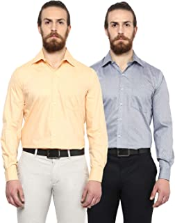 Copperline Men's Formal Combo Shirt-Pack of 2