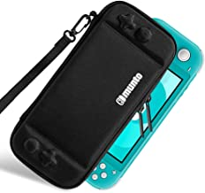 Munto Slim Carrying Case for Nintendo Switch Lite, Portable Hard Shell Protective Storage Pouch with 8 Game Cartridges