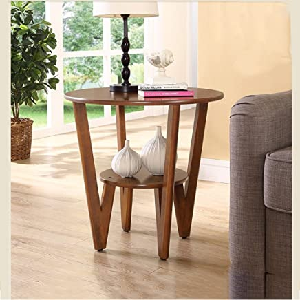 BJAB Sofa Corner A Few Round Small Coffee Table Solid Wood Simple Living Room Small Apartment