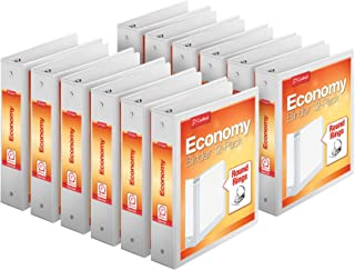 "Cardinal Economy 3-Ring Binders, 2"", Round Rings, Holds 475 Sheets, ClearVue.."