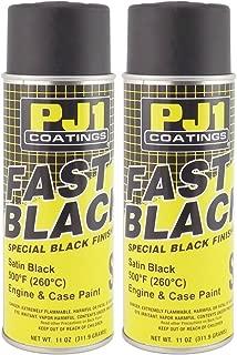 PJ1 16-SAT-2PK Satin Black Engine Spray Paint, 22 oz, 2 Pack