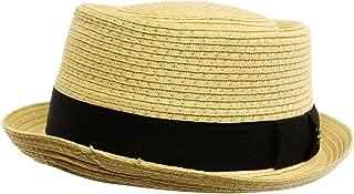 Men/'s Everyday 2tone Light Summer Porkpie Boater Derby Fedora Sun Hat
