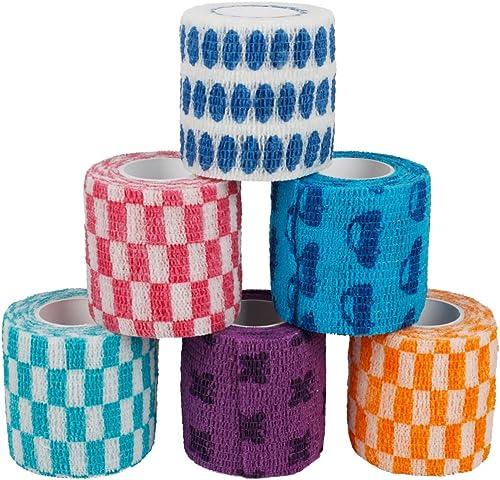 wholesale Larcele discount Cohesive Sports Bandage Multifunctional Self Adherent Bandage Cartoon Random 6 outlet sale Rolls (5.0cm*4.5m) online