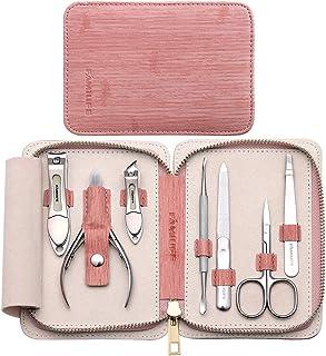 Juego de manicura Kit de pedicura cortaúñas FAMILIFE 7 en 1 Kit de manicura de acero inoxidable, Kit de pedicura profesion...
