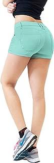 Womens 3 inch Reg/5 inch Plus Inseam Butt Lifting Stretch Twill/Denim Shorts