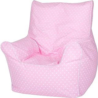 Knorrtoys 68115 Pouf pour Enfant Rose/Pois Blancs