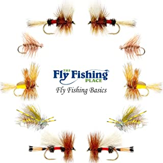 The Fly Fishing Place Basics Collection - Hair Wing Dry Fly Assortment - 10 Dry Fishing Flies - 5 Patterns - Hook Sizes 10, 12, 14