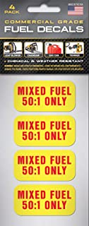Mixed Fuel Stickers 50:1 Premix Fuel Sticker (4 Pack) 2