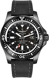 Breitling Superocean 44 Special Black Steel Men's Watch on Anthracite Canvas Strap M1739313/BE92-109W