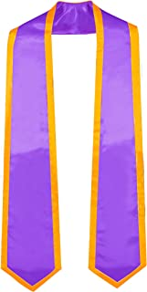 GraduationMall Plain Graduation Honor Stole Classic End With Trim Unisex Adult 72