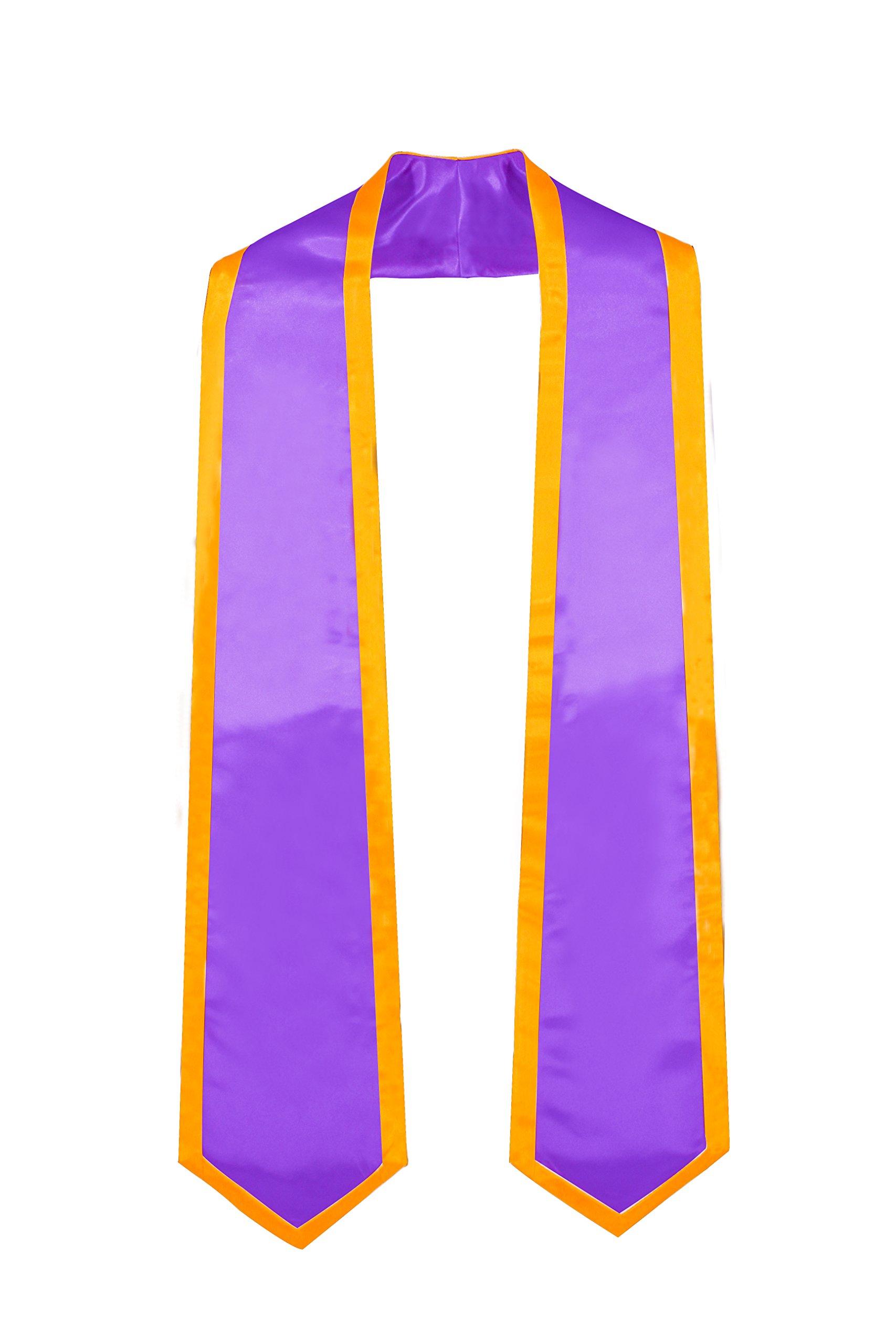 Sigma Lambda Beta Kente Graduation Stole Hand Made in Ghana 100 percent Rayon Purple