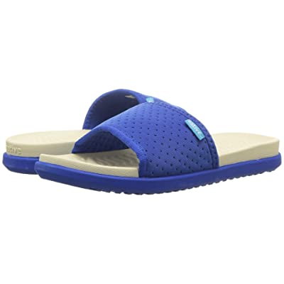 Native Kids Shoes Penn (Little Kid) (Victoria Blue/Bone White/Victoria Blue) Kids Shoes