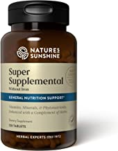 Nature's Sunshine Super Supplemental Vitamin and Mineral Without Iron, 120 Tablets, Multivitamin Helps Replenish Your Body...
