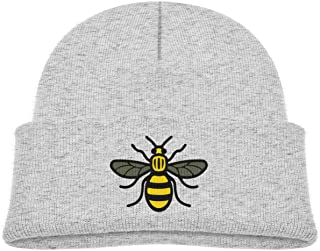 Keviewly Manchester Bee Baby Boy Warm Beanie Winter Hat Knit Caps Gray