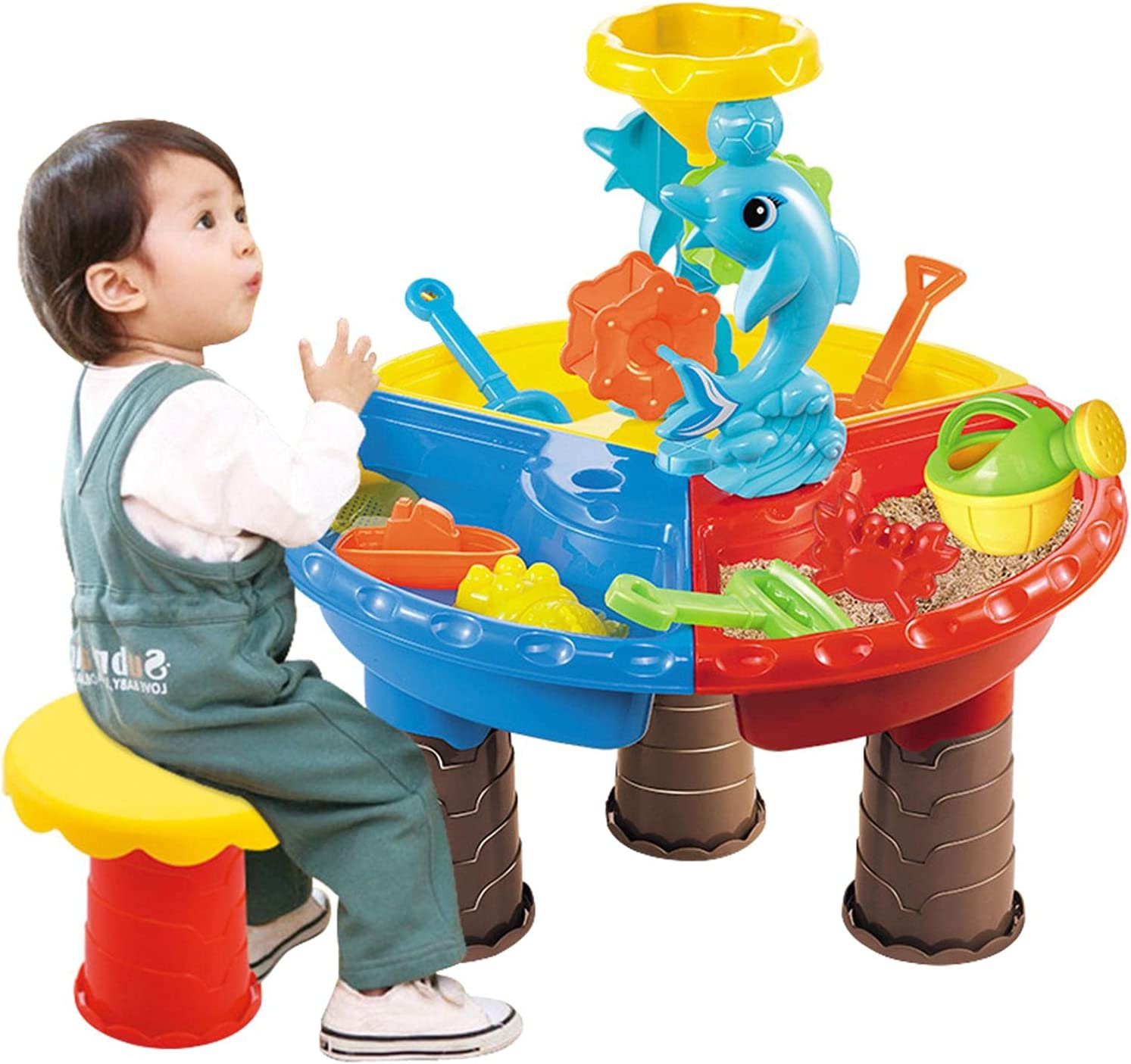 2021 spring and summer new Jacksonville Mall LOPADE Sand Water Table with Cover Sandbox Kids