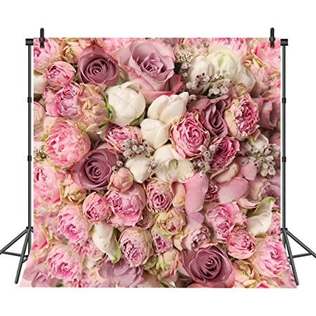 Flower Garden with Open Sky and Vintage Cosmos Plant Artwork Photo Background for Kid Baby Boy Girl Artistic Portrait Photo Shoot Studio Props Video Drape Vinyl Floral 10x12 FT Photography Backdrop
