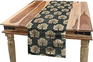 art nouveau table runner