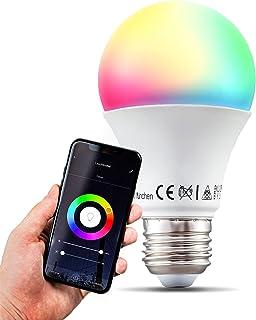 B.K.Licht I smart lamp I smart light I LED WiFi lamp I E27 lichtbron I RGB en CCT I voice control I bulb I slimme lichtbro...