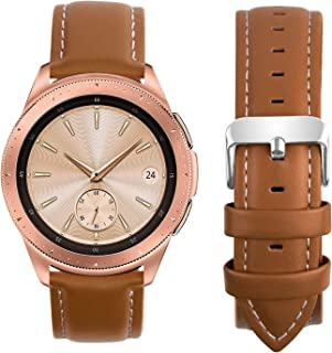 Compatible Samsung Galaxy 46mm/Gear S3 Frontier/Classic Watch Bands, Fullmosa Quick Release Leather Watch Band for Gear S3 Bands/Moto 360 2nd Gen 46mm 22mm Watch Band (Silver & Gold Buckle)