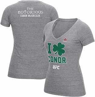 Reebok Conor McGregor UFC Grey 189 I Clover Conor Tri-Blend T-Shirt for Women