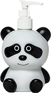FAPU Black and White Panda Hand Soap Pump Lotion Dispenser Kids for Kitchen and Bathroom Cute Animal Cartoon Style