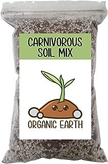 Carnivorous Plant Soil Mix for Venus Fly Traps Sundews & Pitcher Plants. Organic Terrarium Carnivore Plant Soil Made of Sphagnum Peat Moss and Perlite