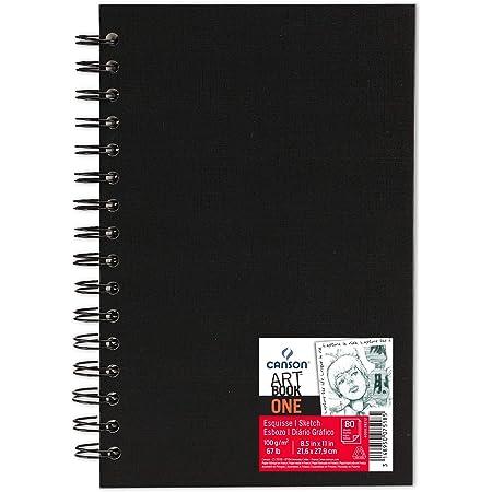 Canson Art Book One Papier à dessin 80 feuilles 21,6 x 27,9 cm Blanc