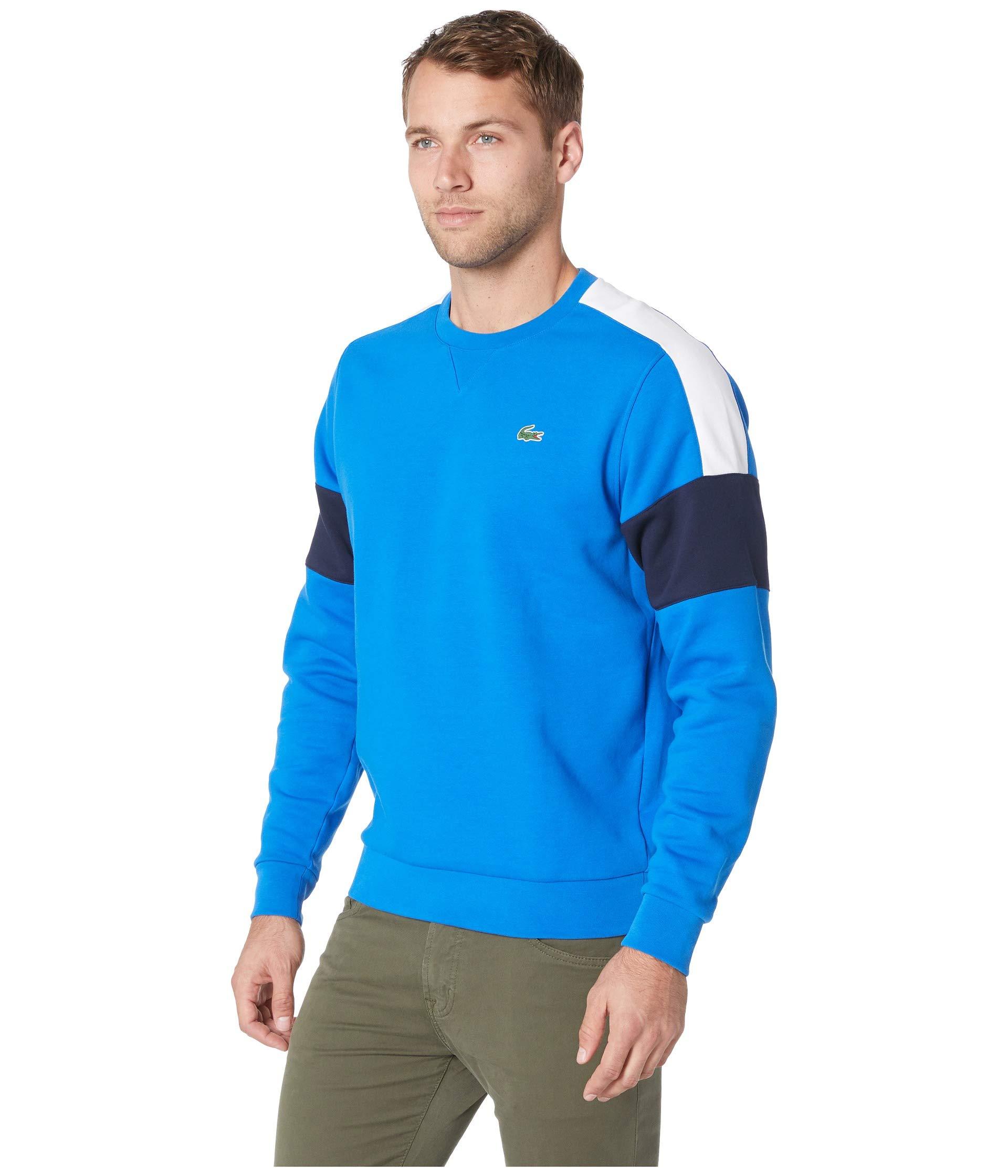 Semi Yoke Lacoste Royal Blue Contrast Color Fancy white Sweatshirt navy Sport W 1S5BwAq