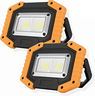 OTYTY 2 COB 30W 1500LM LED Work Light, Rechargeable Portable Waterproof LED Flood Lights for Outdoor Camping Hiking Emerge...
