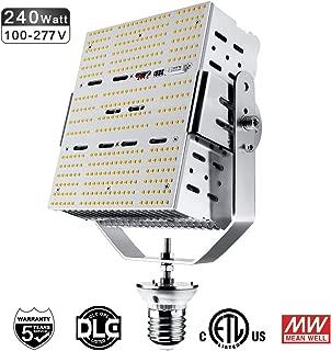 240W Shoebox LED Retrofit Kit (1000W HPS Equivalent) E39 Mogul Screw Base 5700K Daylight Retrofit Lights for High Bays Parking Lot Canopy Tennis Court ETL DLC Listed