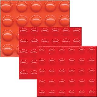Bump Dots-Mixed-Sm Med Lg-Round Orange-Red-80-pk