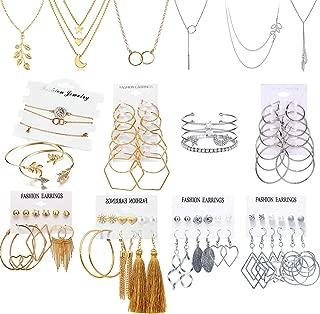 Best womens gold necklace and bracelet set Reviews
