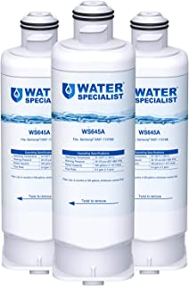 Waterspecialist DA97-17376B Refrigerator Water Filter, Replacement for Samsung DA97-08006C, HAF-QIN, HAF-QIN/EXP (Pack of 3)