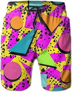SARA NELL Mens Swim Trunks Memphis Pattern Abstract Surfing Beach Board Shorts Swimwear