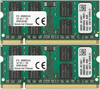 Kingston 4 GB Apple SODIMM iMac and MacBook Memory (Kit of 2) KTA-MB800K2/4G