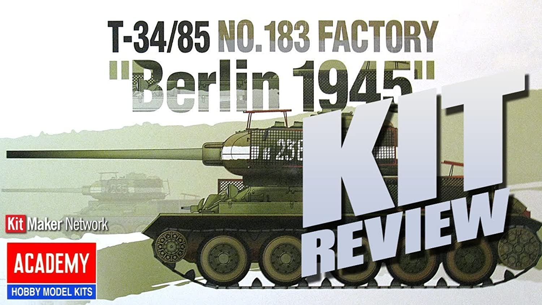 Academy T34 85 No. 183 Factory  Berlin 1945  Model Kit
