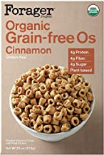 Forager Project Organic Gluten-Free Breakfast Cereal- Low Sugar, 4g of Protein, Vegan, 8 Ounce (Cinnamon, Pack of 2)