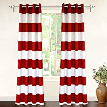 red and white curtain