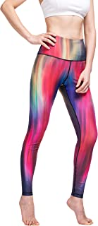 EVERNOVEL Womens High Waist Printed Compression Yoga Pants Tummy Control Workout Stretch Sports Leggings