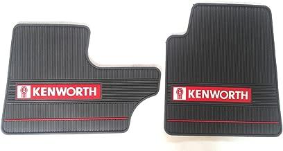 Kenworth OEM Dark Gray Rubber Floor Mats w/Logo Fits T600/60 T800 W900 Model 2006-2016 (See Bullet Points) - All-Weather/Terrain