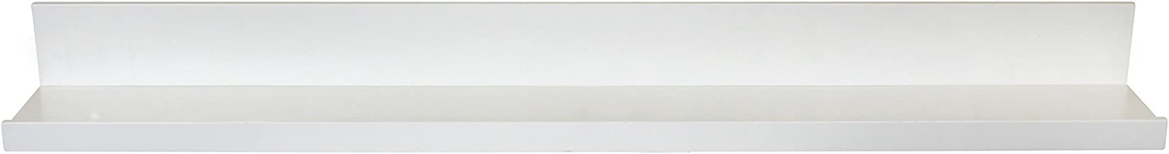 InPlace Shelving 9084678 Floating Wall Shelf with Picture Ledge, White, 35.4-Inch Wide by 4.5-Inch Deep by 3.5-Inch High