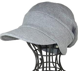 医療用帽子 オーガニックコットンの柔らかな肌触り/ワッフルキャスケット杢グレー