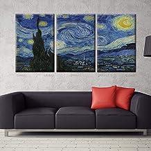 120 x 80cm Vincent Van Gogh Notte Stellata 1889 Poster Stampa Geante XXL