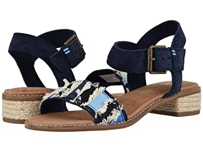 TOMS Camilia (Navy Suede/Coupe Denim) Women