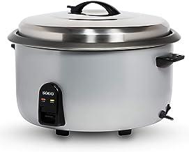 SOGO Cuiseur à riz professionnel électrique avec capacité de 10 litres SS-10780 Idéal pour les restaurants, hôtels et trai...