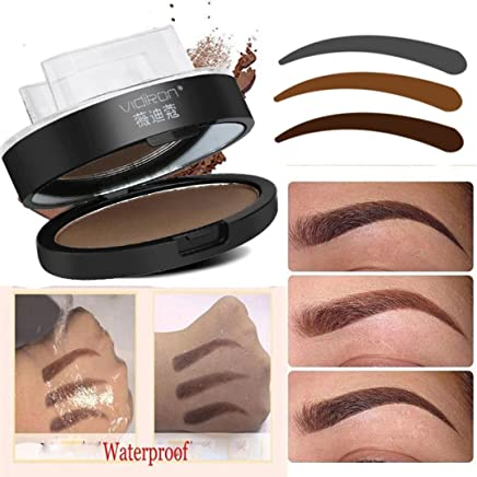 IGEMY Natural Eyebrow Powder Makeup-Brow Stamp Palette Delicated Shadow Definition (B)