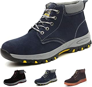 Gainsera Safety Boots Men Women Lightweight Work Boots with Steel Toe Cap Breathable Kevlar Safety Shoes Trainers Puncture...